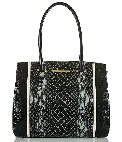 Brahmin Alice Carryall Black Carlisle Geniune Leather