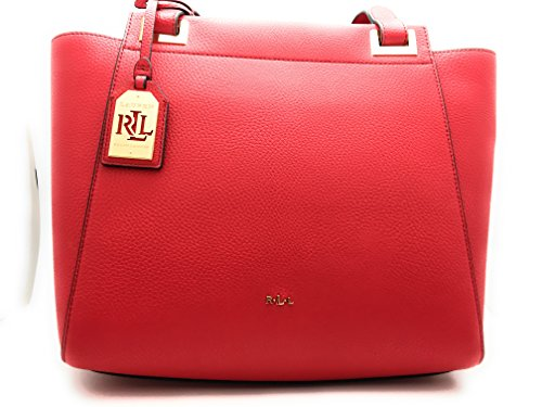 LAUREN Ralph Lauren Carslisle Afton Shopper Red Handbags