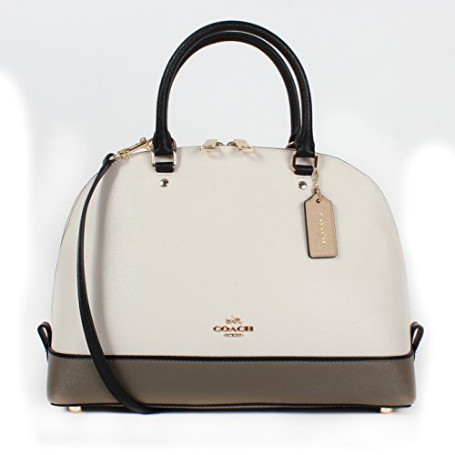 Coach Geomtrc Colorblock Sierra Satchel F57502 Chalk Fog