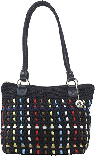 The Sak Lauren Crochet Shopper, Navy Multi