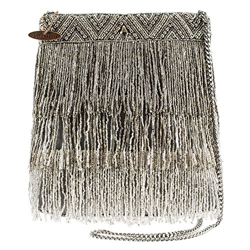 Mary Frances Shimmer Falls Beaded Handbag