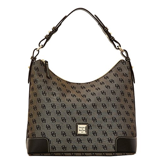 Dooney & Bourke Americana Signature Large Erica Hobo,Black