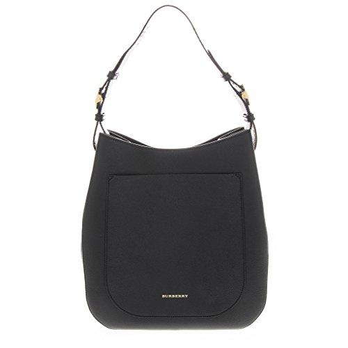 Burberry Women's Stud Detailed Textured Shoulder Bag Black