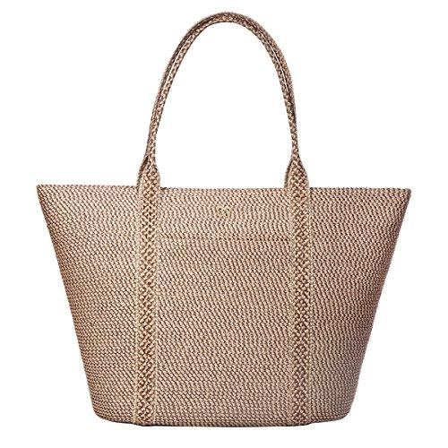 Eric Javits Designer Women's Handbag Prep Tote Bag Bark