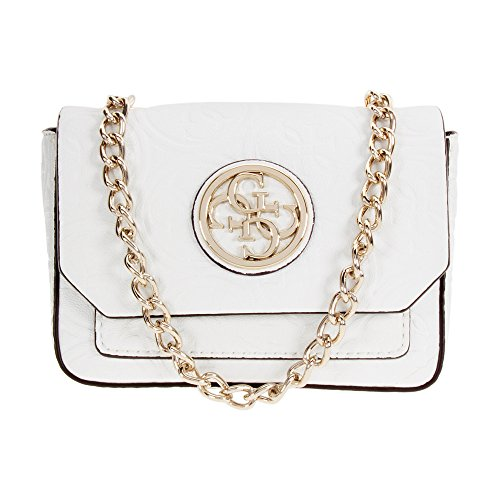 Guess Leeza Mini White Ladies Crossbody Handbag SG455736WHI