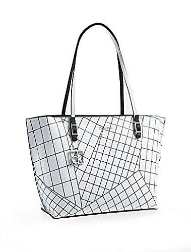 Calvin Klein Women's Hailey Grid Shopper Tote
