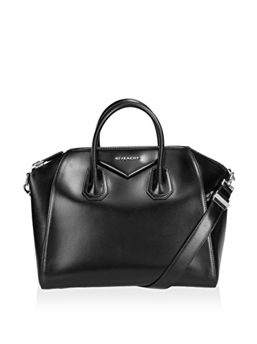 Givenchy Women's Antigona Shiny Satchel with Gold, Black, Medium