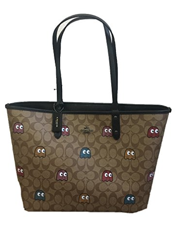 COACH PAC-MAN SIGNATURE TOTE & MAKE UP BAG REVERSIBLE