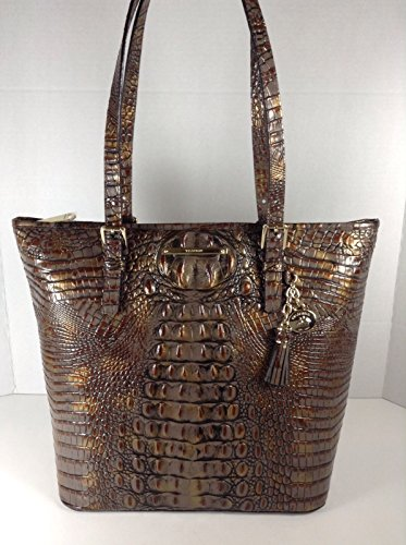 Brahmin J5115100195 Asher Tote Fall Tortoise Melbourne Genuine Leather Handbag