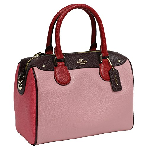 Coach Leather Handbag Bag Multicolor Strawberry Pink