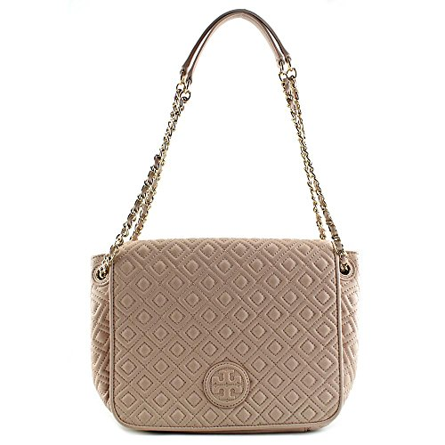 Tory Burch Leather Bag Pink Fleming Quilted Chain