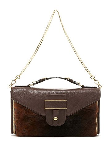 Rebecca Minkoff Rivington Genuine Rabbit Fur Shoulder Bag