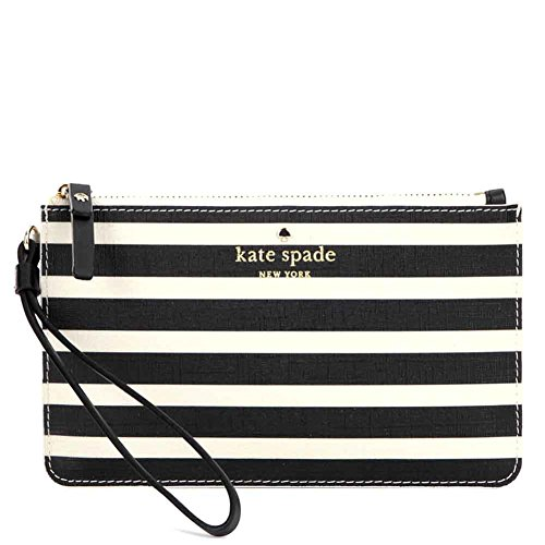 Kate Spade Slim Bee Wristlet PWRU4232 Black/Sandy Beach