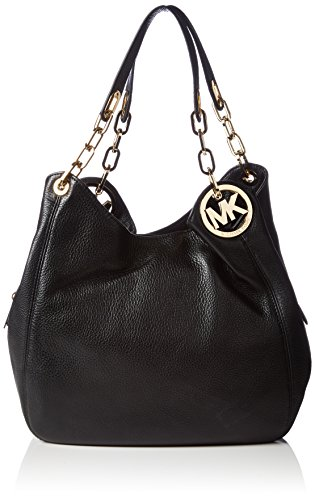 MICHAEL Michael Kors Fulton Large Shoulder Tote in Black