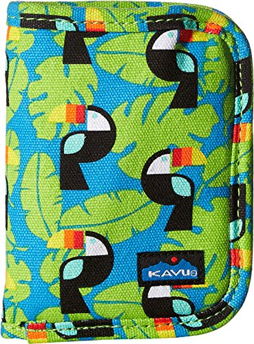 KAVU Women's Zippy Wallet Blue Toucan Handbag