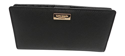 Kate Spade Laurel Way Stacy Clutch Wallet Black Saffiano WLRU2673