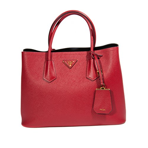 Prada Red Leather Tote
