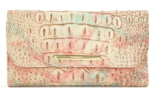 BRAHMIN Wallet Genuine Leather Sandstone Checkbook/Wallet