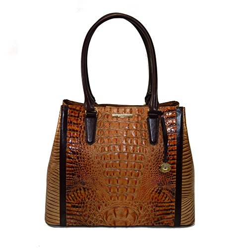 Brahmin Joan Tote Toasted Almond Bengal Leather Shoulder Bag