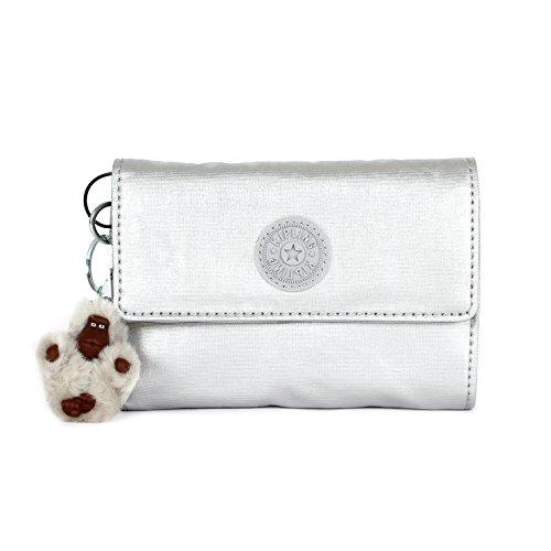 Kipling Pixi Medium Wallet, Platinum Metallic