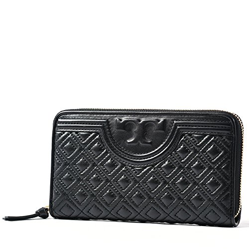 Tory Burch Fleming Continental Wallet in Black