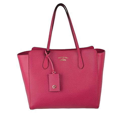 Gucci Bag 354397 Swing Medium Blossom Leather Tote Trademark Logo