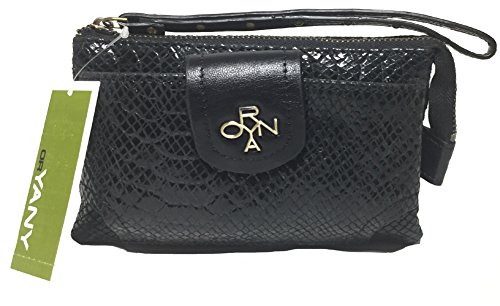 orYANY Wristlet, Black, Front Phone Pocket