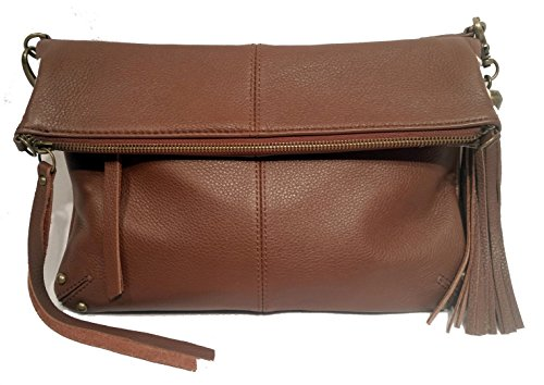 Lucky Brand Delray Foldover LB1012 Shoulder Bag,Brandy,One Size