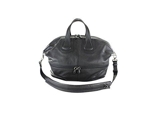 Givenchy Nightingale T-Handle Bag – Solid Black Leather