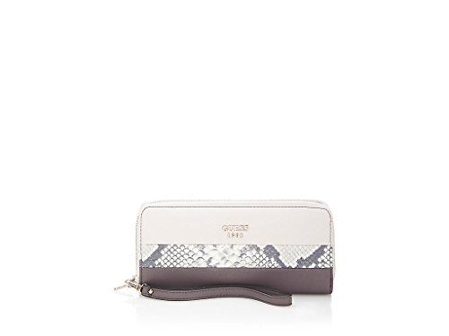 GUESS Cate Women's SLG Zip Around Clutch Wallet, Taupe Multi