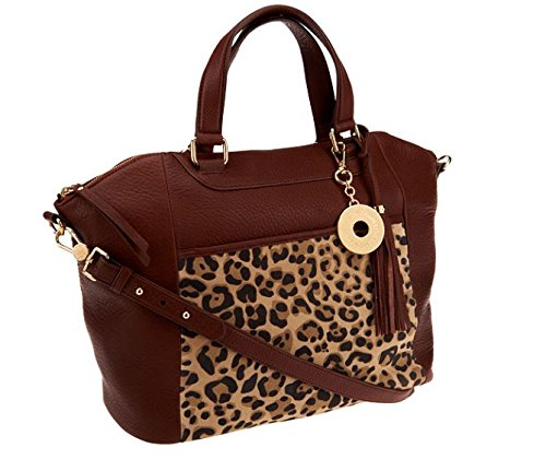 Isaac Mizrahi Handbags – Bridgehampton Leather Leopard Tote