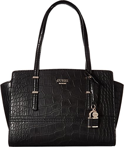 GUESS Women's Devyn Satchel Black Handbag