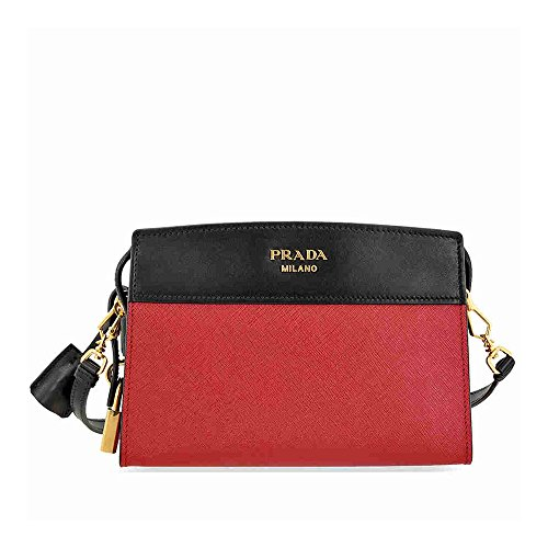 Prada Women's Small 'Esplanade' Two-Tone Shoulder Bag Black + Red