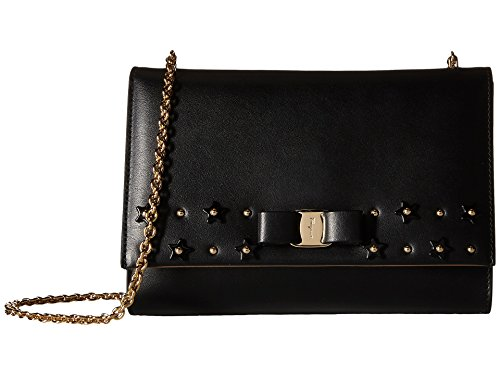 Salvatore Ferragamo Women's 'Vara Mini' Flap Star Studded Bow Bag Black