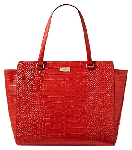 Kate Spade Bristol Drive Elissa Croco Embossed Tote Bag, Fire Engine Red