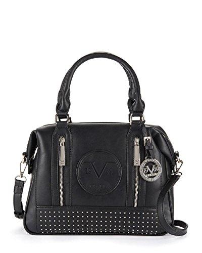 Versace V1969 ITALIA Brooklyn Studded Satchel (Black)
