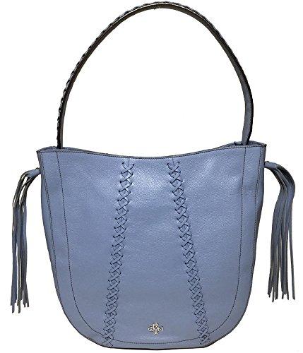 orYANY Chelsea Hobo Bag W/Fringe, Sky Blue