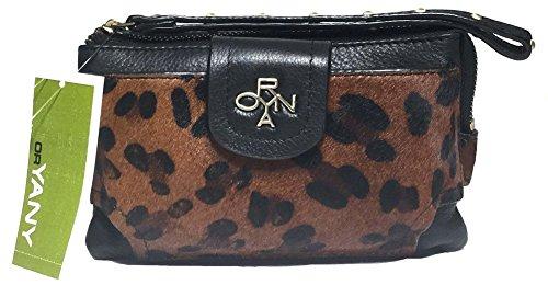 orYANY Wristlet, Leopard, Front Phone Pocket