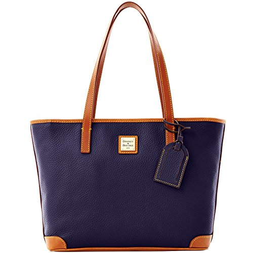 Dooney & Bourke Pebble Leather Charleston Shopper Midnight Blue