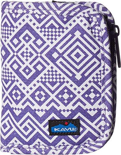 KAVU Women's Zippy Wallet Purple Quilt Handbag