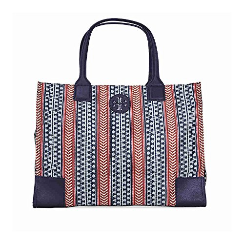 Tory Burch Ella Printed Packable Tote – Navy Multi Color