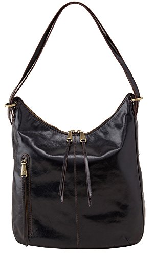 Hobo Handbags Vintage Leather Merrin Convertible Backpack- Black