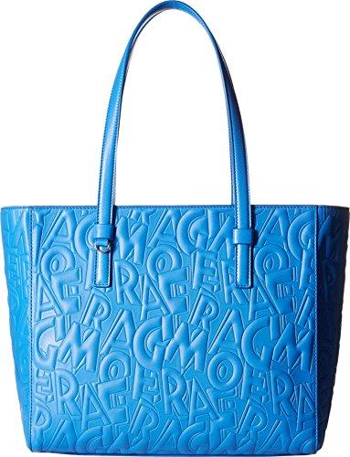 Salvatore Ferragamo women's leather shoulder bag original bonnie blu