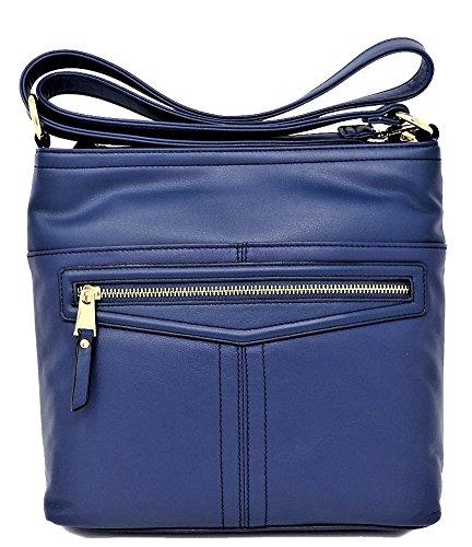Tignanello Pretty Pockets Large Cross Body, Sailor Blue, T68215