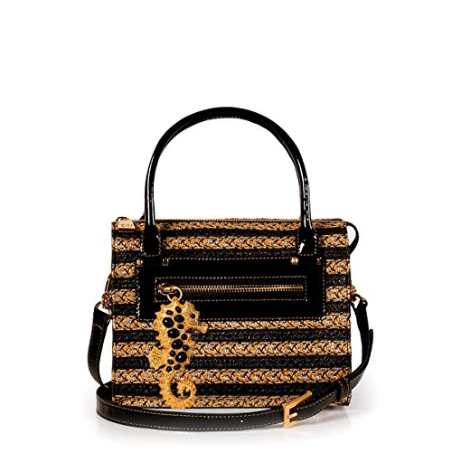 Eric Javits Luxury Fashion Designer Women's Handbag – Satchel – Sulfate Black