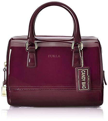 Furla Women's Furla Candy Cookie Mini Raspberry-purple Pvc Bowler Bag Purple