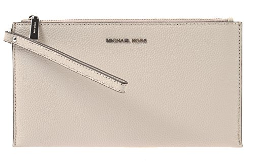 MICHAEL KORS Studio Mercer Large Zip Clutch in Cement, 32F6SM9W3L