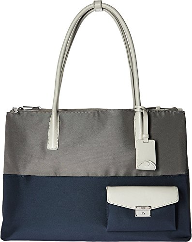 Tumi Women's Larkin Hayes Triple Compartment Tote Grey/Blue Spectator Handbag