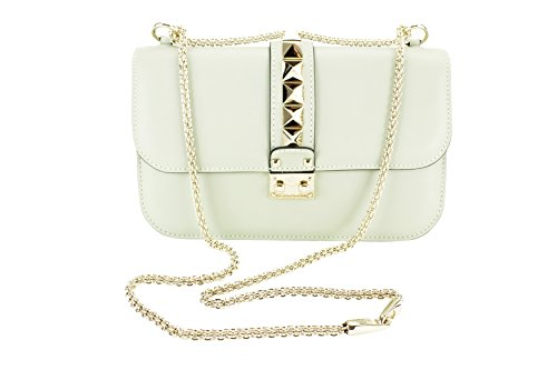Valentino Garavani Womens Kw2b0398vit Shoulder Bag – Green Leather