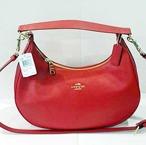 Coach Pebble Leather Harley East West Hobo in True Rec, F38250.
